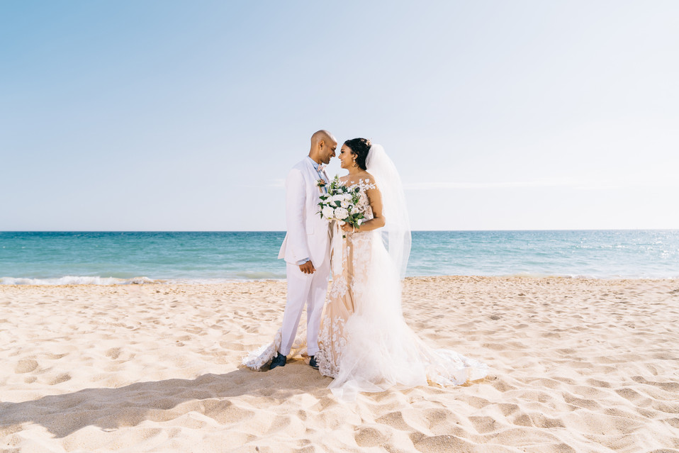beach wedding photograph