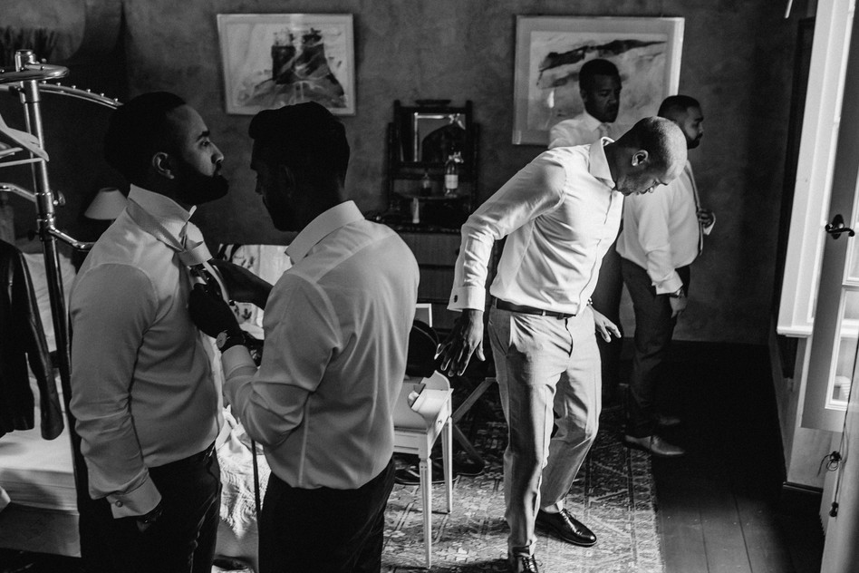 groomsmen in france