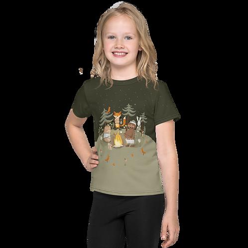 Camping Toons Kids T-Shirt