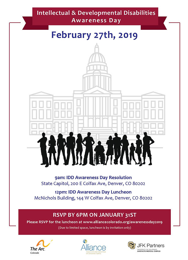 IDD Awareness Day 2019 Invite all rsvp b