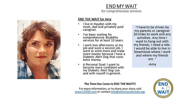 END MY WAIT Amy from Hayden in Routt Cou