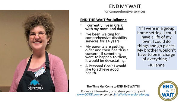 END MY WAIT Julianne from Craig, Moffat