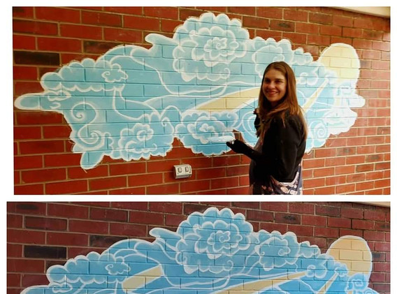 WHIMSICAL CLOUDS MURAL - PRIVATE RESIDENCE BENDIGO 2021