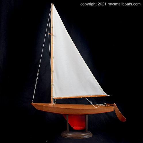 """""""Zephyr"""" – 22"""" Mahogany Kit Boat, Item 2021-03"""