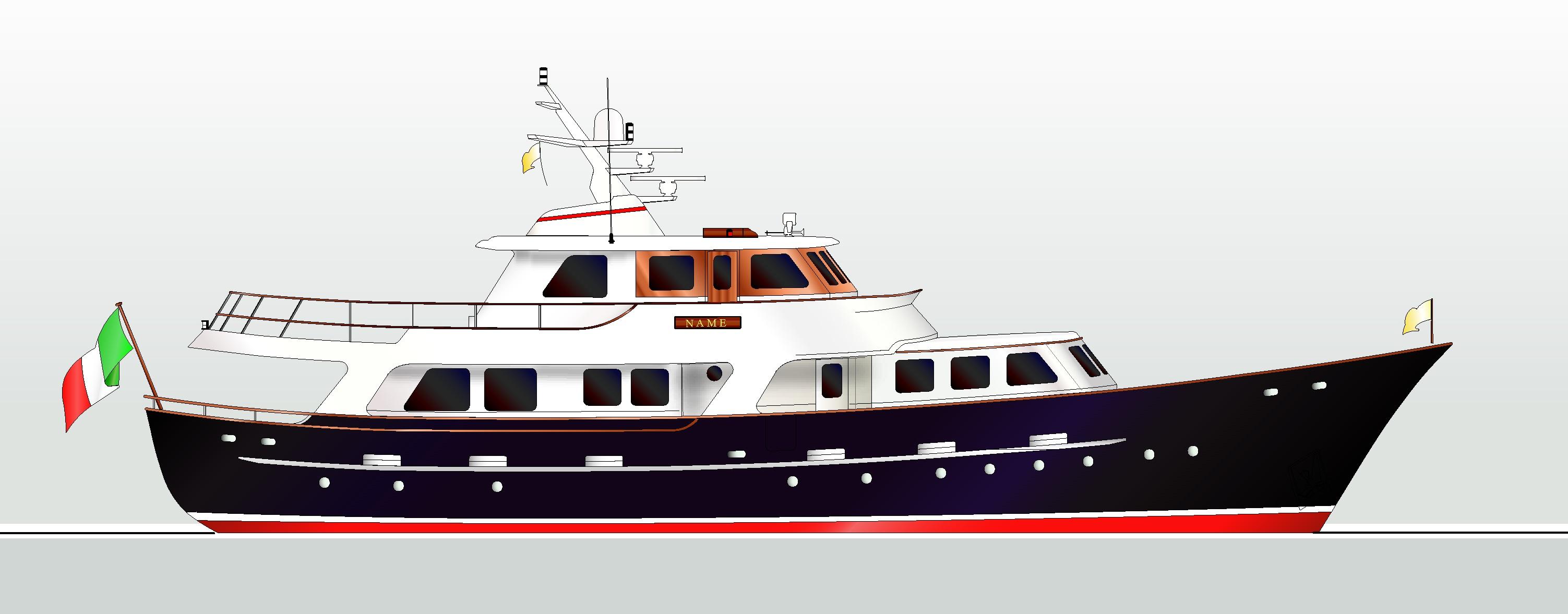 E-1107, 26,6 m Motorboat