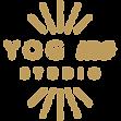 logo de Yog Me Studio doré lumineux
