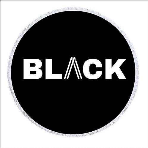 BLACK PRINT BEACH TOWEL