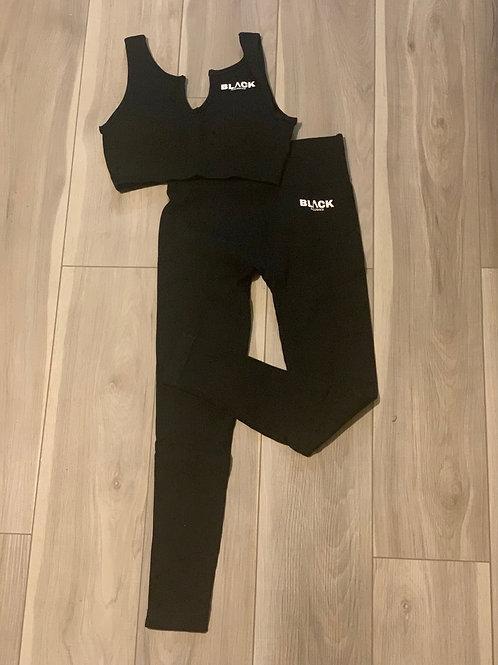V-Neck Legging Set