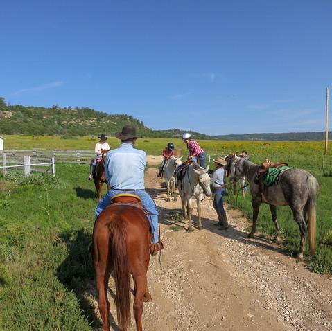 Horseback!