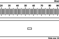 Microscope Objective Stage Micrometer Calibration Slide