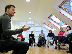 Giles leading a workshop