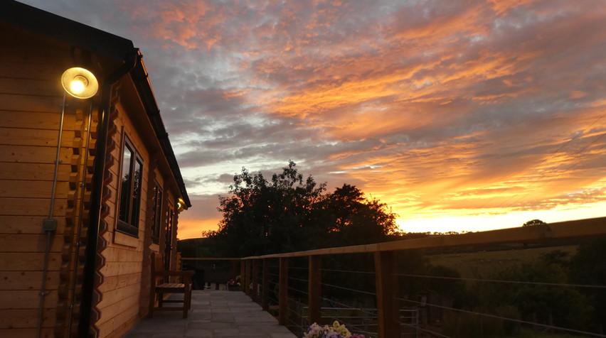 Sun set over the Lodge