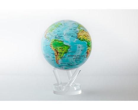 "MOVA 4.5"" Blue Ocean Relief Map Rotating Globe"