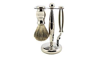 Edwin Jagger 3-Piece Mach 3 Shaving Set - Chrome