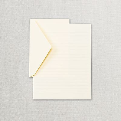 Crane Eccruwhite Ruled Half Sheets Stationery