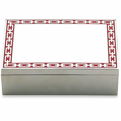 Reed & Barton Poppy Silver Link Covered Box
