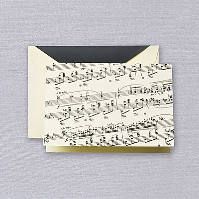 Crane Sheet Music Folded Notes with Envelopes