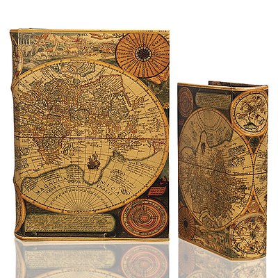 Rustic Map Book Box (2 Sizes)