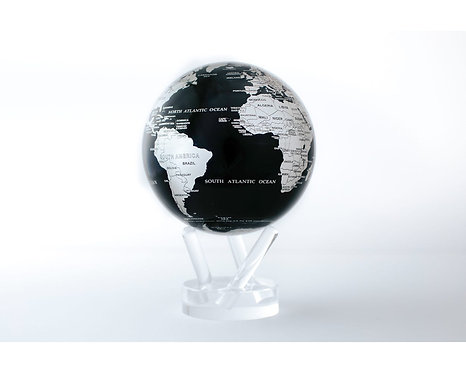 "MOVA 4.5"" Black & Silver Rotating Globe"