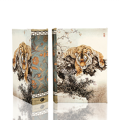Tiger on Cherry Blossom Book Box