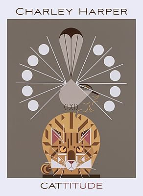 Charley Harper: Catitude Boxed Note Cards