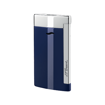 S.T. Dupont Slim 7 Blue/Chrome Lighter