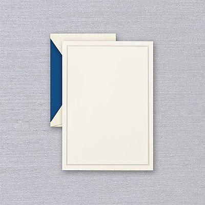 Crane Regent Blue Triple Hairline Half Sheet