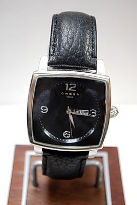 Cross Paris Black Wristwatch with Black Band