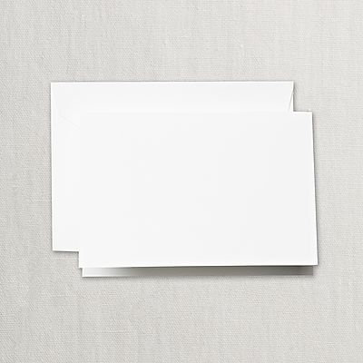 Crane Pearl White Folded Notes with Envelopes