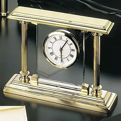El Casco 23K Gold Plated Desk Clock