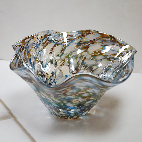 Glass Eye Studio 5in Floppy Bowl - Abalone