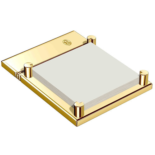 El Casco 23K Gold Plated Sticky Note Holder M-671