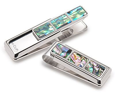 Mother of Pearl Slide Money Clip