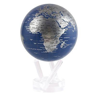 "MOVA 4.5"" Blue & Silver Rotating Globe"