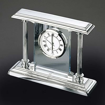 El Casco Chrome Plated Desk Clock