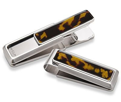 Stainless Steel Tortoise Shell Slide Money Clip