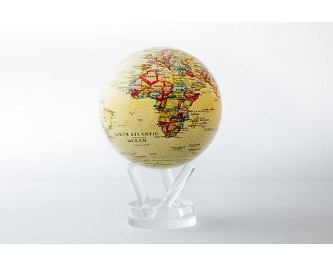 "MOVA 4.5"" Antique Beige Rotating Globe"