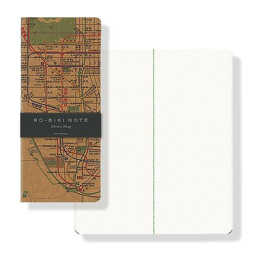 Yamamoto Ro-biki Notebook - Metro Map (Blank Pages)
