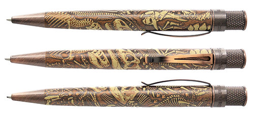 Retro 1951 Dino Fossil Smithsonian Collection Tornado Rollerball
