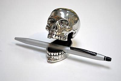 Pen Rest / Card Holder - Skull
