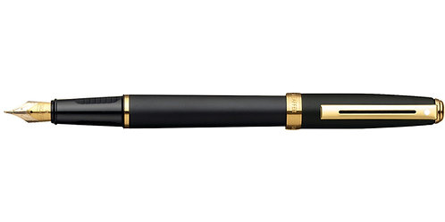 Sheaffer Prelude Black Matte w/ 22K Gold Trim