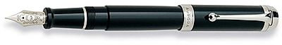 Aurora Talentum Classic Black with Chrome Fountain Pen
