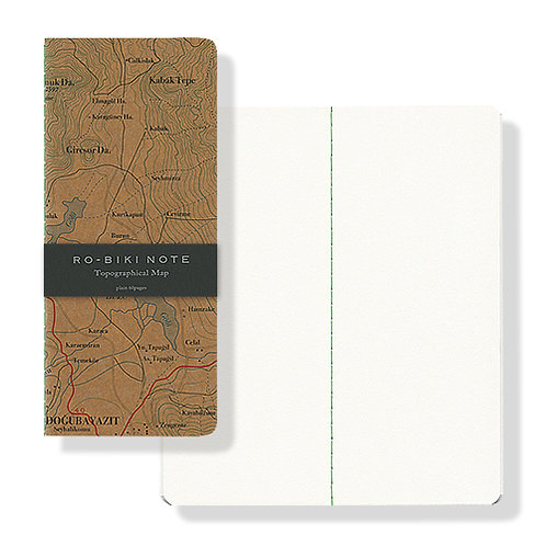 Yamamoto Ro-biki Notebook - Topographical Map (Blank Pages)