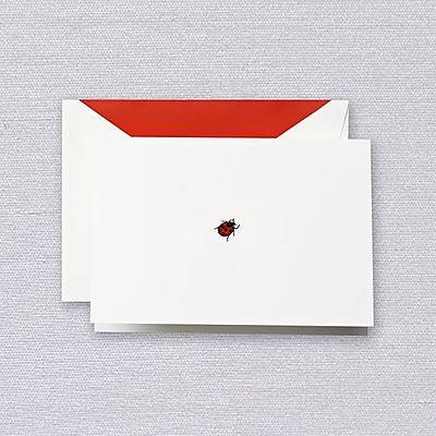 Crane Ladybug Folded Notes w/ Envelopes