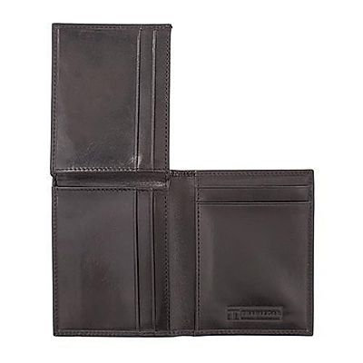 Trafalgar Cortina Leather L Fold Wallet - Black