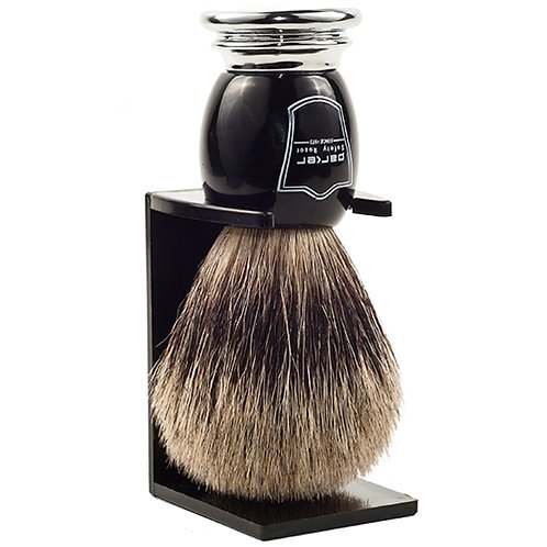 Parker Black & Chrome Pure Badger Brush