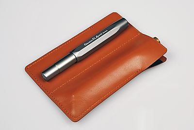 Capitol Short Leather Pen Sleeves for 2 Pens