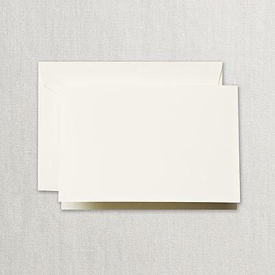 Crane Ecruwhite Folded Notes with Envelopes