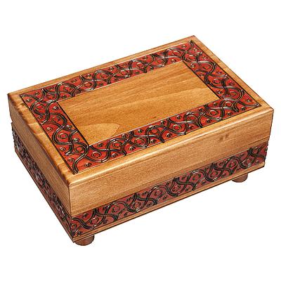 Polish Wood Box - Waved Motif Full