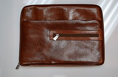 Chiarugi Leather Zippered Padfolio